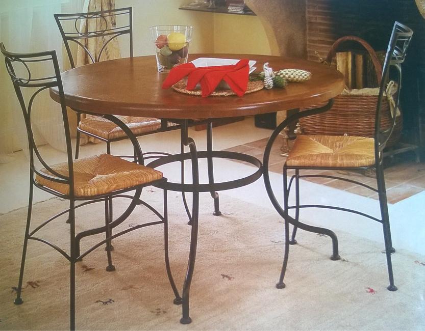 e4247f2ad640 Kovový jedálenský stôl Provence kruh zoom