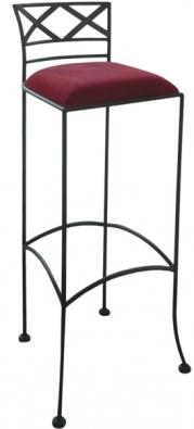 Barová židle Bologna s čalouněným sedákem