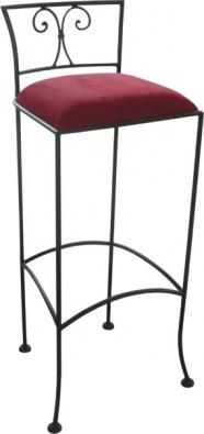Kovová barová stolička Jamaica s čalouněním