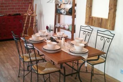 Jedálenský stôl Provence, stoličky Jamaica