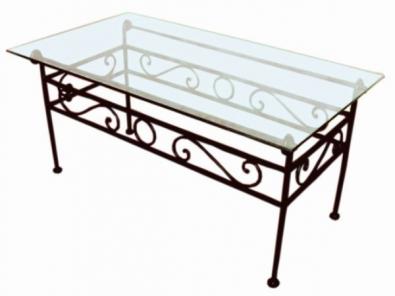 Konferečný stolík so sklom Romantic