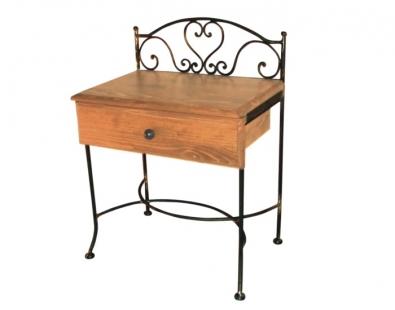 Noční stolek Malaga se dřevem