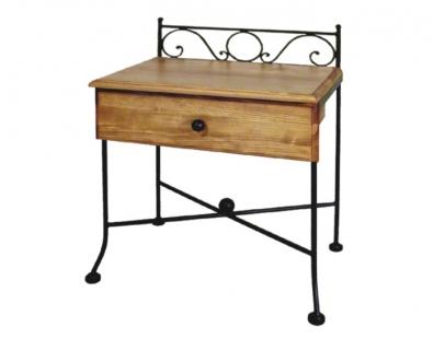 Nočný stolík Romantic s drevom