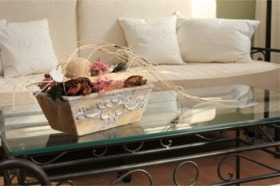 Konferečný stolík  Romantik čierny kov  a sklo