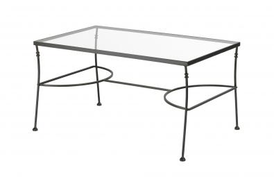 Konferečný stolík  Andalusia kov + sklo