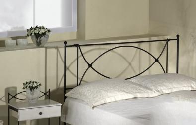 Černá kovová postel Tholen